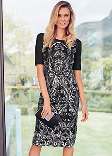 6707e50151fed Embroidered   Sequin Shift Dress