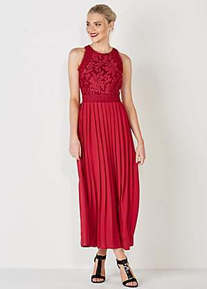 multiple colors well known best deals on Little Mistress Lace Top Maxi Dress
