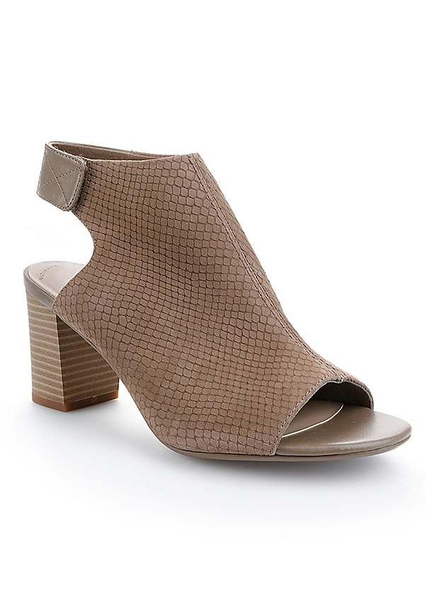 Clarks Heeled Peep Toe Sandals